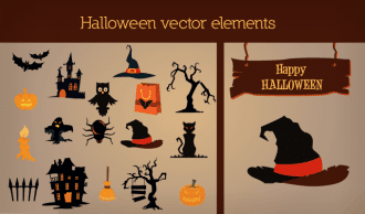 Halloween vector Elements 2 Vector packs tree