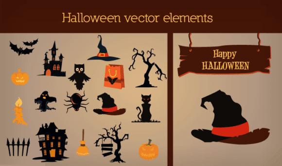Halloween vector Elements 2 Vector packs tree