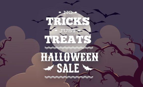 Halloween typographic elements Typographic Templates halloween