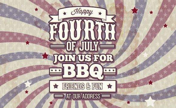 Independence day typographic elements Typographic Templates american