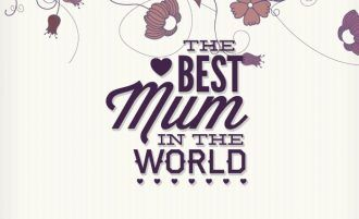 Mother's day typographic elements Typographic Templates heart