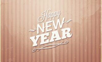 New year's eve typographic elements Typographic Templates typography