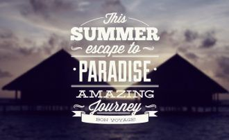 Summer typographic elements Typographic Templates summer