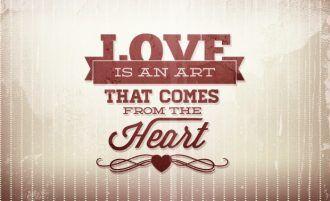 Valentine's day typographic elements Typographic Templates heart