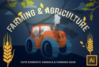 Farming & Agriculture Vector Set Vector packs vector