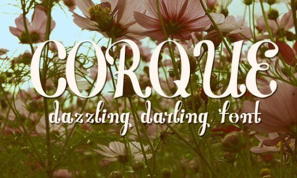 Corque Font Fonts font
