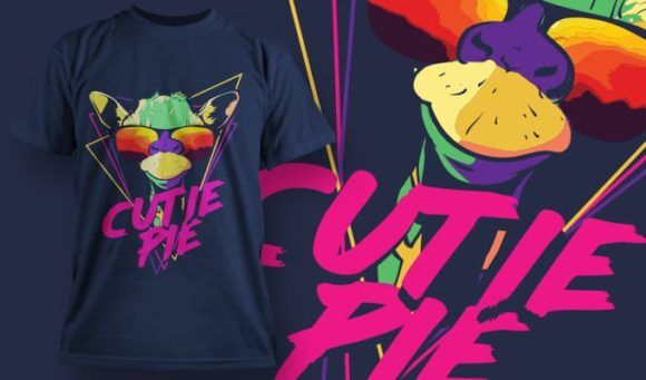 T-Shirt Design 1348 T-shirt Designs and Templates vector