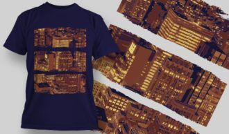 T-Shirt Design 1363 T-shirt Designs and Templates city