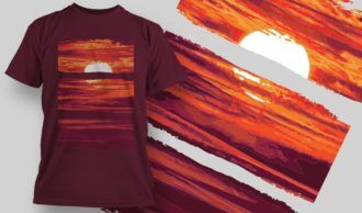 T-Shirt Design 1365 T-shirt Designs and Templates vector