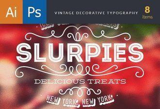 Vintage Decorative Typography Typographic Templates decorative
