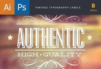 Elegant Labels Set 1 Typographic Templates label