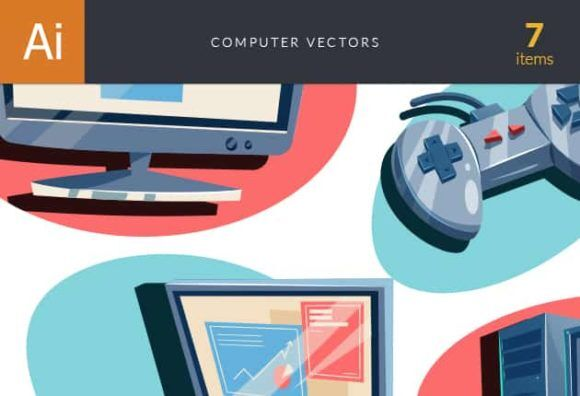 Computers Vector Set Vector packs vector