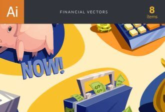 Financial Vector Set Vector packs vector