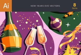 New Year's Eve Vector Set Vector packs glass