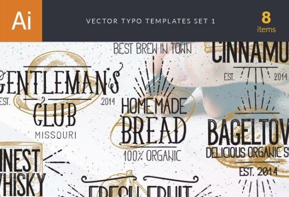 Vector Typography Templates Set 1 Typographic Templates typography