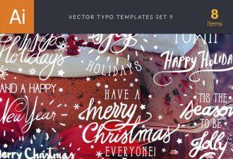 Vector Typography Templates Set 9 Typographic Templates typography