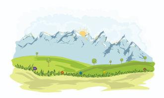 Cartoon Background Vector Illustration Vector Illustrations tree