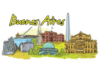 Buenos Aires Doodles Vector Illustration Vector Illustrations tree