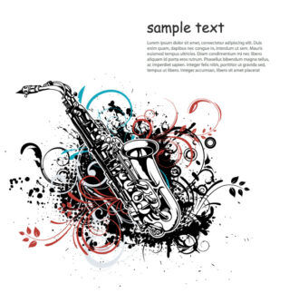 Vector Music Illustration With Saxophone Vector Illustrations old