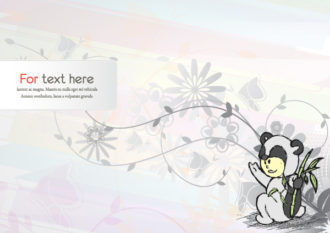 Vector Cute Kid With Abstract Background Vector Illustrations floral