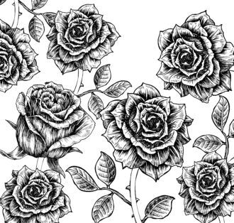 Vector Floral Background With Roses Vector Illustrations old