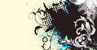 Vector Grunge Floral Background Vector Illustrations palm