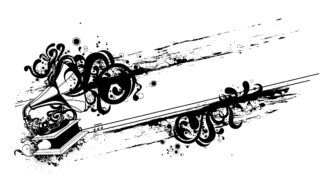 Vector Grunge Music Illustration Vector Illustrations old
