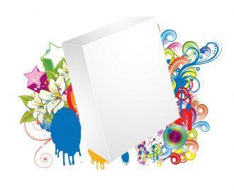 Vector Blank 3d Box With Stars Vector Illustrations star