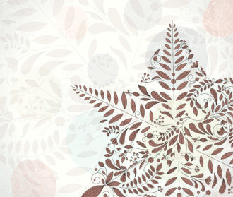 Vector Christmas Greeting Card With Snowflakes Made Of Floral Vector Illustrations floral