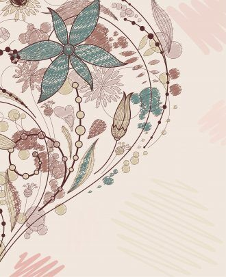 Doodles Floral Background Vector Illustration Vector Illustrations floral