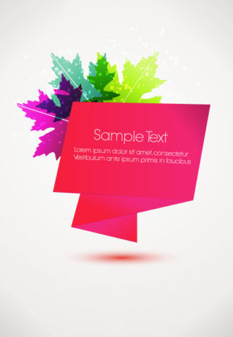 Abstract Banner Vector Illustration Vector Illustrations leaf