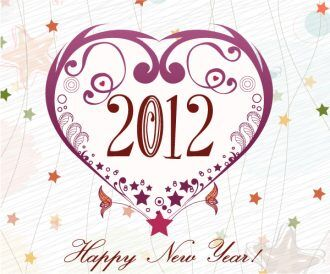 Vector New Year's Eve Greeting Card Vector Illustrations star