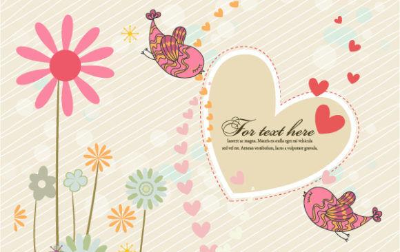 Birds In Love Vector Illustration Vector Illustrations vector
