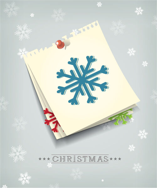 Christmas Vector Illustration With Paper Sheets And Snowflake Vector Illustrations vector