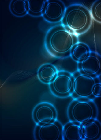Vector Bokeh Abstract Background Vector Illustrations wave