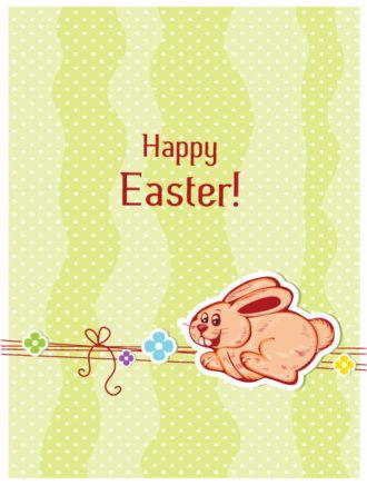 Rabbit With Flowers Vector Illustration Vector Illustrations vector