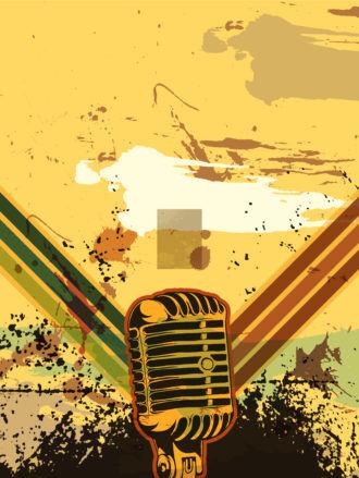 Vector Grunge Retro Concert Poster Vector Illustrations old