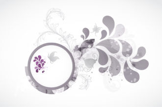 Abstract Background With Butterflies Vector Illustration Vector Illustrations floral