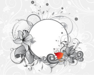 Vector Abstract Floral Frame Vector Illustrations floral