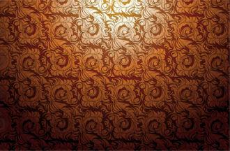 Baroque wallpaper vector illustration Vector Illustrations old
