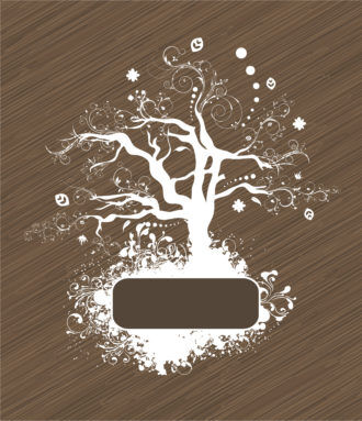 Vector Abstract Tree With Grunge Vector Illustrations tree