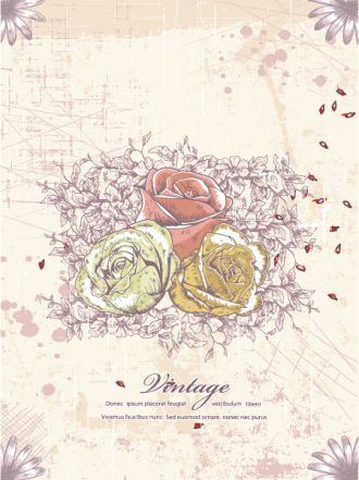 Vector Floral Grunge Vector Illustrations old