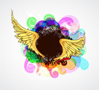 Vector Colorful Grunge Illustration Vector Illustrations old