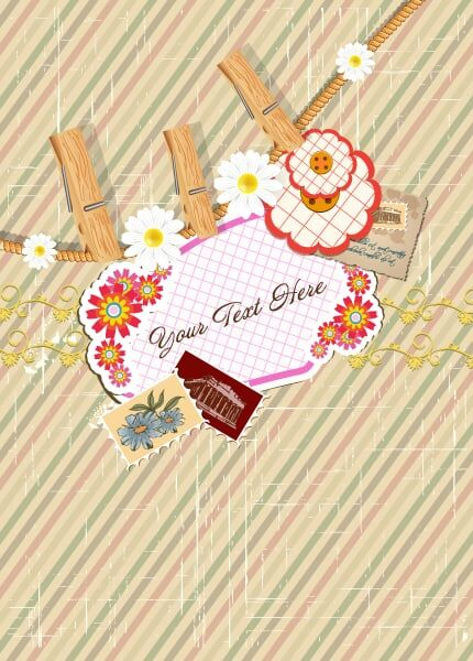 Frame With Flowers Vector Illustration Vector Illustrations vector