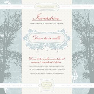 Vintage Invitation Vector Illustration Vector Illustrations tree