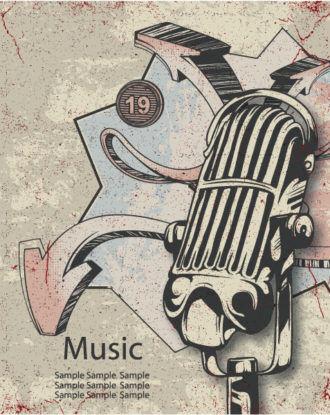Music Poster Vector Illustration Vector Illustrations vector