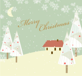 Vector Christmas Background With Trees Vector Illustrations tree