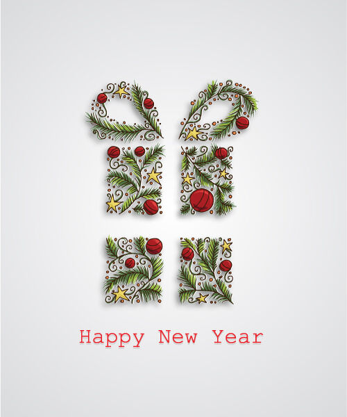 Christmas Vector Illustration With Decorated Gift Vector Illustrations vector