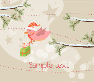 Christmas Background Vector Illustration Vector Illustrations tree