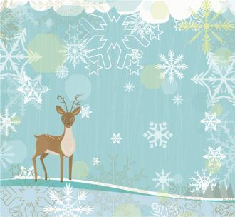Vector Christmas Background With Reindeer Vector Illustrations vector